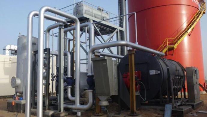 Thermoölkessel mit Sekundärkreisen und Kaminen - thermo oil boilers with secondary loops and chimneys