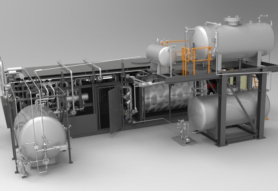Heiz-Kühleinheit (befeuerter Erhitzer, Thermoöl) - Heating-cooling (fired heater, thermo oil)