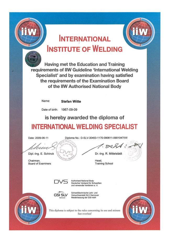 Qualifikationen_Stefan_Witte_IWS_Certificate_heat11