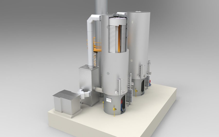 Befeuerter Erhitzer. Fired heater, night-heater, anti-freeze-heater by heat 11.