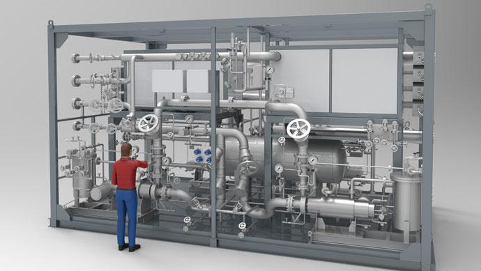 Elektroerhitzer und Heiz-Kühlanlagen für die HDPE-Produktion