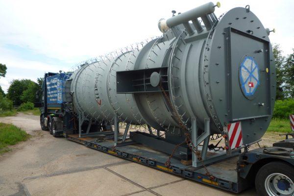 6,5 MW Thermoölkessel auf dem Weg zur BASF