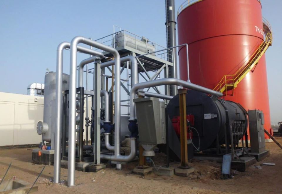 Tank farm heating