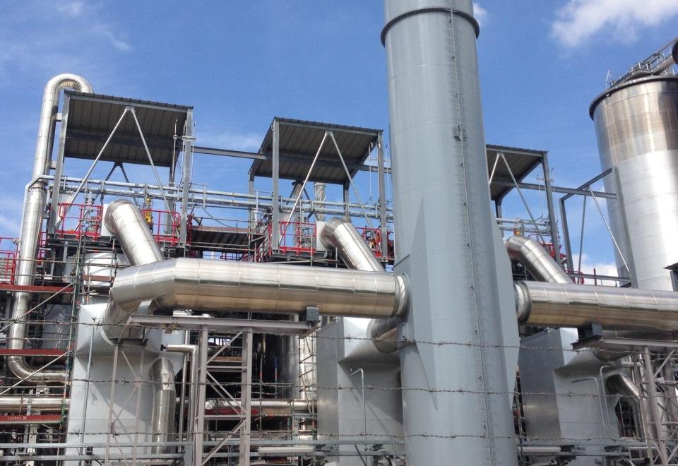 Befeuerter Erhitzer (Thermoölkessel) einer PET-Produktionsanlage - Fired heater (thermo oil boiler)