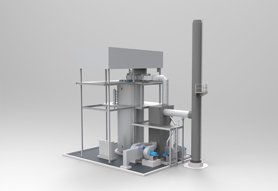 Heating PET-production plant