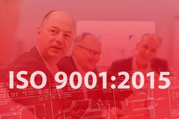 ISO 9001:2015 erfolgreich abgeschlossen