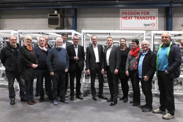 SPD-Fraktion zu Besuch bei heat 11