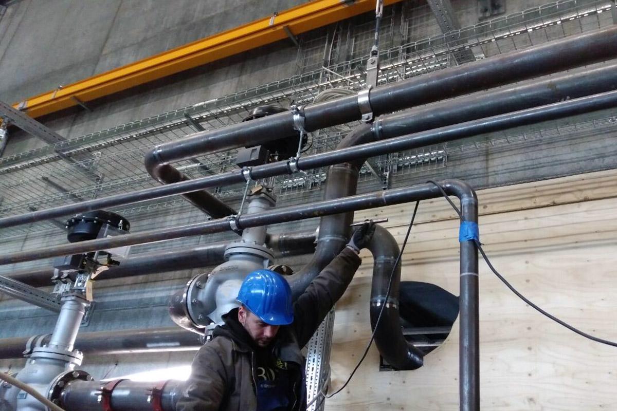 heat 11 Team Rohrleitungsbau und -Montagen im Einsatz